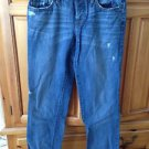 Women's distressed Boyfriend blue jeans by ann taylor loft Size 2