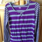 women's striped hooded top by S size large