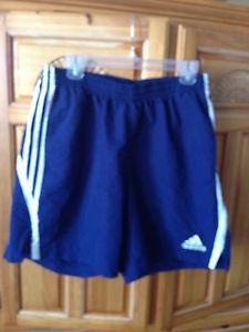 men's blue athletic shorts size large by Adidas