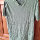 Mens short sleeve shirt v neck light green size medium by marc anthony