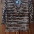 Womens Striped Top Size Small by Designer Etta James