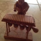 """wood carving sculpture of musician 6"""""""