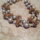 1940's vintage jewelry beautiful beaded necklace