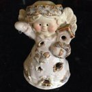 """Angel 5"""" ceramic with room in back for incense if desired"""