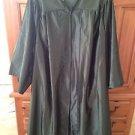 """collegiate graduation gown zipper front forest green 5'3"""" -5'4"""" by herff jones"""
