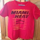 Mens miami Heat tshirt red size small by hardwood classics