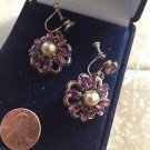 exquisite Vintage Jewelry 1940's screw back clip on earrings
