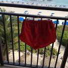 red speedo size medium swim shorts