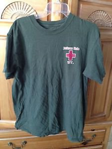 Mens Tshirt Jackson Hole Wyoming Paramedics khaki size large no label