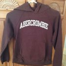 Abercrombie & Fitch brown hoodie sweatshirt with hood medium beautiful condition