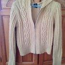 Golden tan Hooded Zipper Sweater Size Medium by Arizona Jean Company beautiful