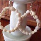 beach shell loop natural toned pierced earrings