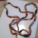 single or double strand multicolored stone necklace
