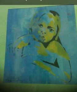 a child's love silkscreen print direct from artist