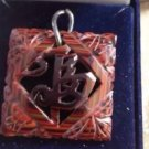 1940's vintage jewelry Asian pendant