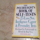 Psychologists Book Of Self Tests Softcover Library Book