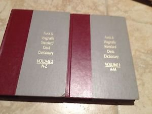 Standard Desk Dictionary Volume 1 & 2, Hardcover,1984,Funk & Wagnal,Collectible