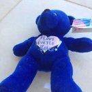 I love mrytle beach blue stuffed teddy bear dark turquoise cobalt blue
