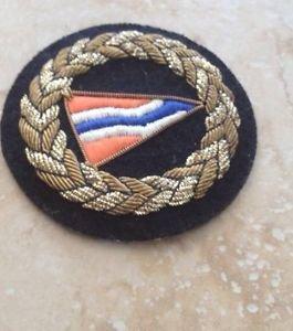 Nautical Sailing Club Multicolored Emblem For Jacket, Hat Or Bag