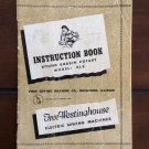Vintage Free Westinghouse Sewing Machine Manual Book Instruction Directions