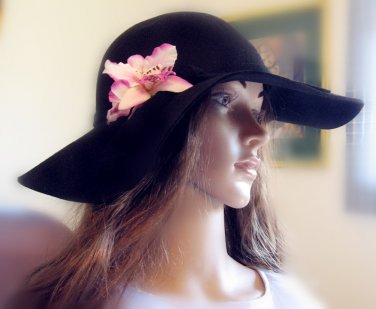 Silk Orchid hair clip/pin/barrette, 5''*3''