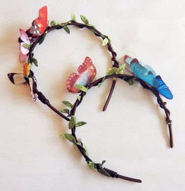 Unique High Quality Simulated Butterfly Headband, Made to Order