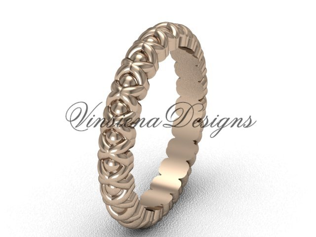 14kt rose gold wedding band VD1008