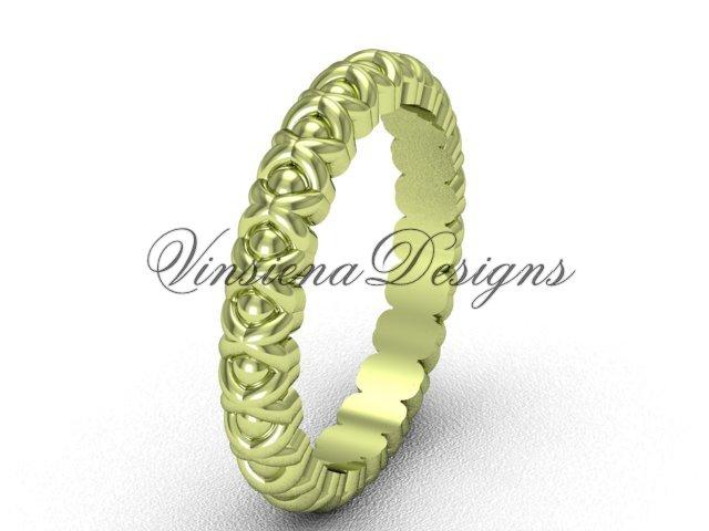 14kt yellow gold wedding band VD1008