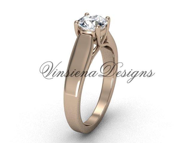 14kt rose gold engagement ring VD10018