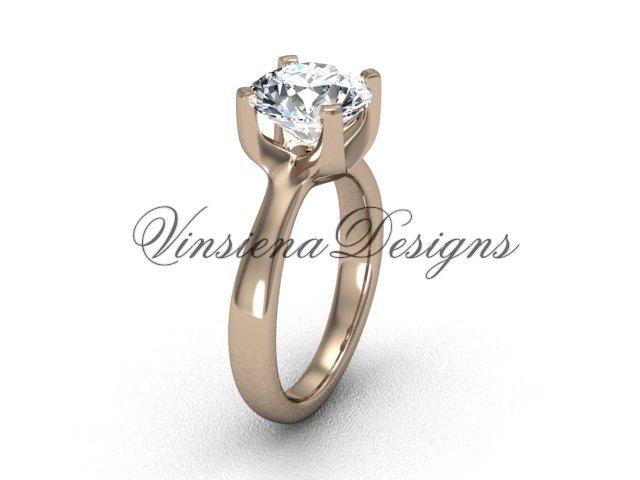 14kt rose gold engagement ring VD10021