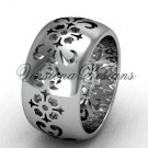Platinum floral engagement ring,wedding band VD10035G