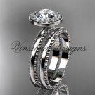 14k white gold engagement ring set VD10078S