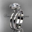 platinum engagement ring set VD10078S