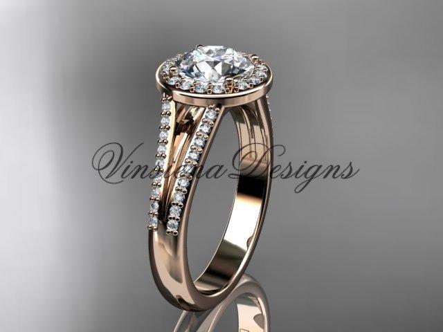 14k rose gold diamond engagement ring VD10083
