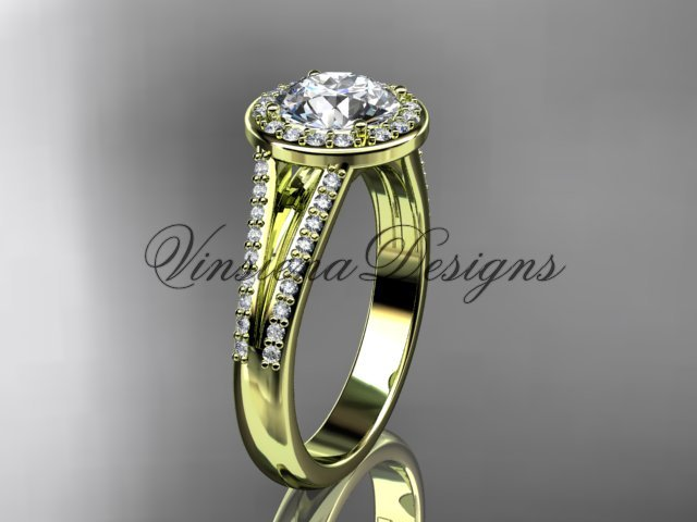 14k yellow gold diamond engagement ring VD10083