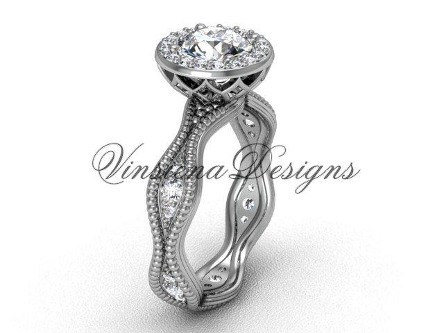 platinum diamond engagement ring VF301003