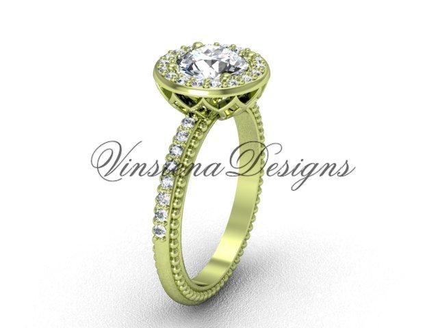 14kt yellow gold diamond engagement ring VF301005