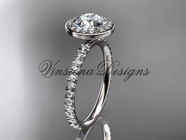 platinum engagement ring VD10082