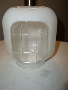 Vintage White Clear Glass Ceiling Light Globe Vanity Wall Sconce Shade Art Deco