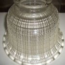Antique Diffuser Clear Holophane Waffle Glass Globe Shade Ceiling Light Lamp 3""