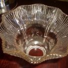 """1Vintage Antqiue Clear Glass Shade Globe Ruffled Edge 2 1/4"""" fitter 4 1/2""""H"""