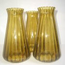 Mid Century Modern Vintage Green Glass Rimless Chandelier Ceiling Light Globes