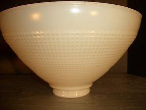 "Vtg Corning Antique White Milk Glass Floor Table Torchiere Diffuser Globe 2 3/4"""