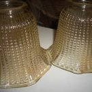 2 Vintage Candlewick Gold Glass Globes Shades Lamp Light Chandelier Sconce 2""