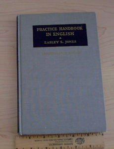 Practice Handbook in English (HC 1935) unperforated  Hard Cover writing and spee