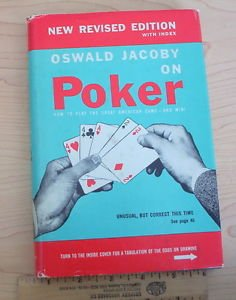 Oswald Jacoby on Poker 1947 American, gambling games hardcover w/jacket