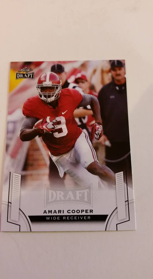 2015 Leaf draft Amari Cooper Rookie card alabama oakland raiders