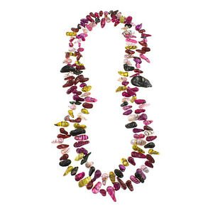 """6-7mm Multi-Color Teeth Cultured Freshwater Pearl 46"""" Strand Endless Necklace"""