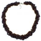 "3-7mm Chips Garnet 19"" Twisted Strand Necklace"