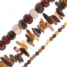 "Mookaite Round Teeth Nuggets Set of 3 15"" Bead Strands"